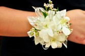 WHITE ORCHID WAX FLOWER CORSAGE