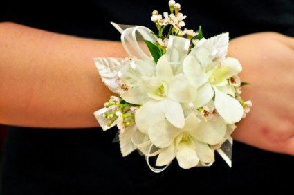 White Orchid Wax Flower Corsage In Cape Coral Fl Enchanted