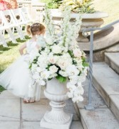 White Orchid  Wedding Ceremony Flowers