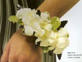 White Orchid Wristlet Corsage (other colors available)