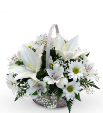 White-Out Basket Arrangement
