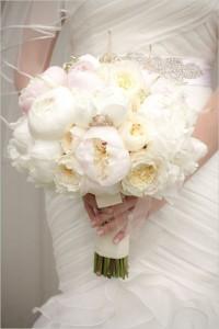 White Peonies Bridal Bouquet In Whitesboro Ny Kowalski Flowers Inc