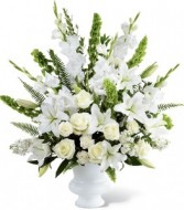 white perfection funeral urn