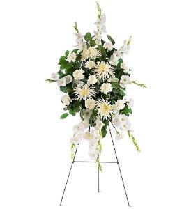 White Promise Spray Funeral Spray