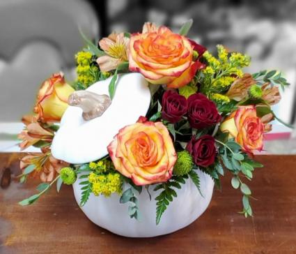 White Pumpkin Bouquet  Fall