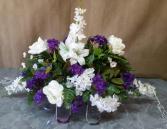 white & purple saddle silk monument saddle
