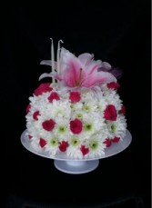 White Raspberry Cake Arrangement  Birthday Cake