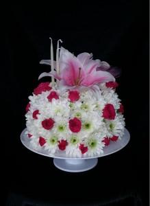 Cool White Raspberry Cake Arrangement Birthday Cake In Windsor On Funny Birthday Cards Online Chimdamsfinfo