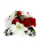 White & Red Black Jelly Corsage