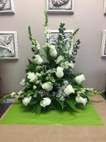 White Remembrance Sympathy Arrangement