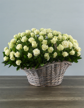 White Rose Abundance, Basket Basket Arrangement