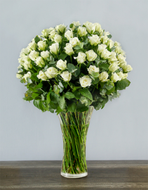 White Rose Abundance Roses Arranged