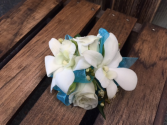 White rose and orchid Corsage Corsage