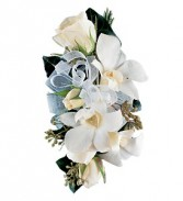White Rose and Orchid Corsage              TF174-3 Corsage
