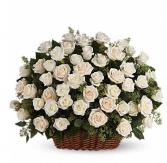 White rose arrangement  Funeral arrangement