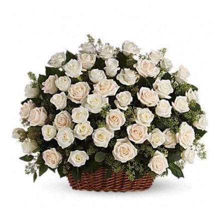 White rose arrangement  Funeral arrangement