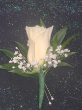 White Rose Boutonniere FHF-801 ****Pick Up only****