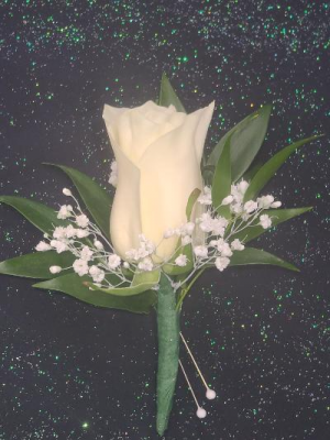 White Rose Boutonniere FHF-801 ****Pick Up only**** in Elkton, MD | FAIR HILL FLORIST