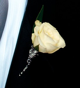 White Rose Boutonniere in Coral Springs, FL | DARBY'S FLORIST