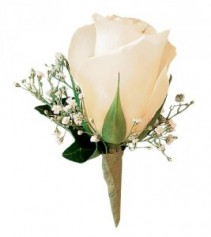 White Rose Boutonnieres