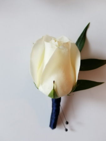 White Rose Boutonnierre