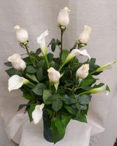 White Rose & Calla Lily Bouquet