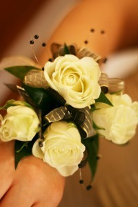 White Rose Corsage Enchanted Florist
