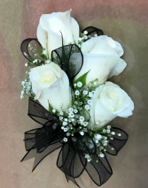 White Rose Corsage  Prom