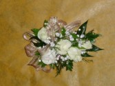 White Rose Corsage Prom Corsasge
