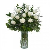 White Rose Elegance Fresh Flower Arrangement
