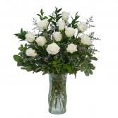 White Rose Elegance Arrangement
