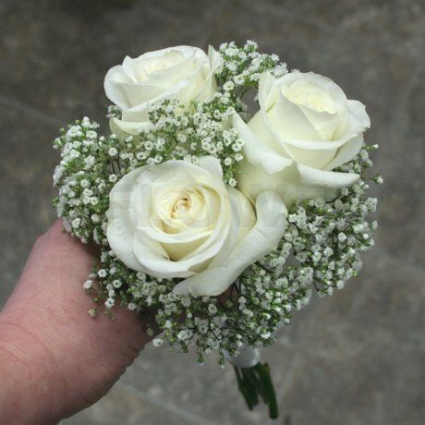 White Rose Handtied Bouquet