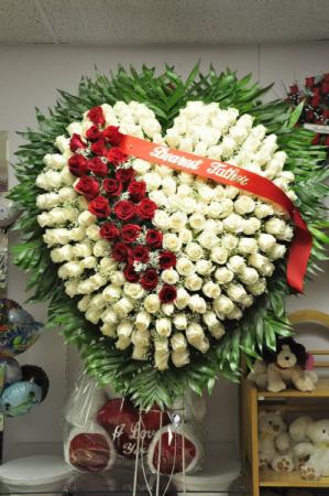 White Rose Heart