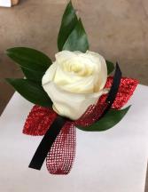 white rose prom