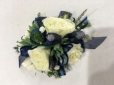 White rose succulent corsage