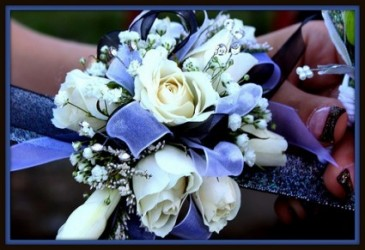 White Rose with Glitter Corsage Enchanted Florist