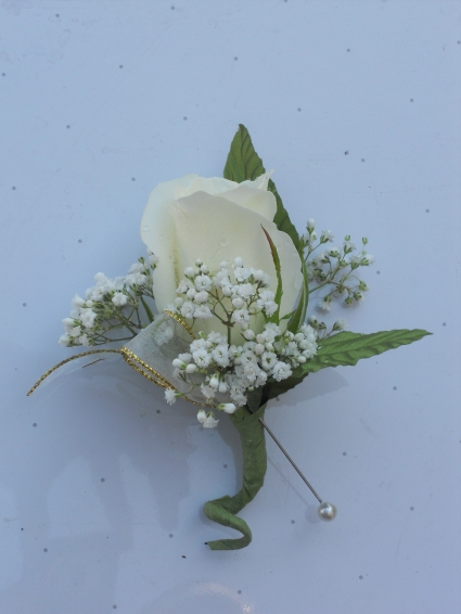 White Rose with Gold Ribbon