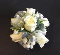 White Rose Wrist corsage Prom