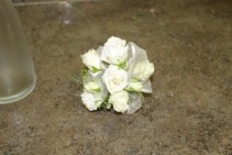 White Rose wrist corsage Prom Corsage