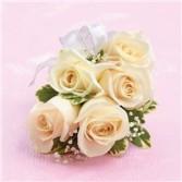 White rose wristlet  White rose wristlet