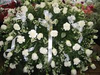 White Rose/Carnation Casket Spray