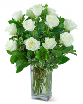 White Roses (12) Flower Arrangement
