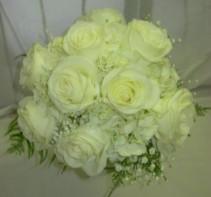 White Roses Bouquet Price Range: $105 - $155