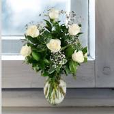 White Roses- 1/2 Dozen