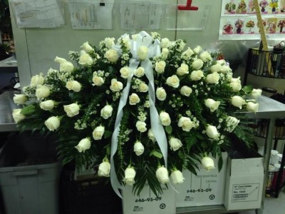 White roses casket spray sympathy and funeral in houston tx the white roses casket spray sympathy and funeral mightylinksfo