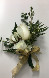 White Roses Dress Corsage