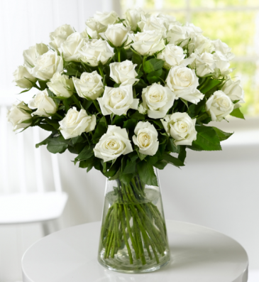 White Roses for Valentines Day
