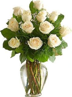 White roses long stem arrangement in potomac md ariel potomac white roses long stem arrangement mightylinksfo