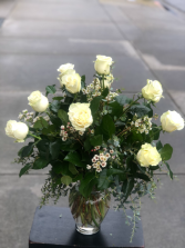 White Roses One and Two Dozen Roses