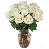 White Roses Vased Roses